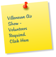Villeneuve Air Show -  Volunteers Required. Click Here